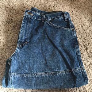 size 36-34 men's dark wash jeans